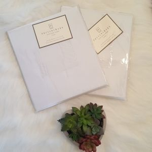 NWT Pottery barn pole pocket voile sheer 2 drapes